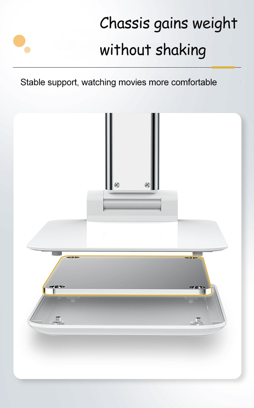Ergonomic Universal Desktop Stand For iPad iPhone Adjustable Foldable Tablet Holder For Watching Movies Zoom Calls Suitable For Most Phones Tablets