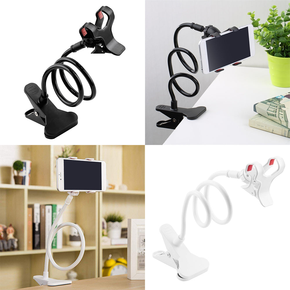 Flexible Clip-on Mobile Phone Mount For iPhone Universal Adjustable Bracket Stand Ideal For Positioning Phone For Viewing Movies Games Videocalls Etc