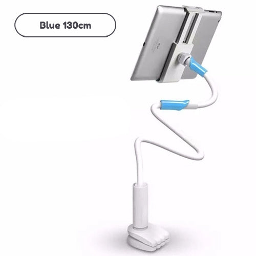 Flexible Long Arm Tablet Holder Adjustable Stand For iPhone iPad Tablet No Hands Viewing Support With Clampable Mount For Attaching To Desk Table Bed etc