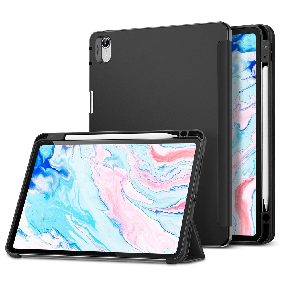 Flexible Soft TPU Back Cover Case for 2020 iPad 8th Gen iPad Air4 iPad Pro 11'' 12.9'' Inch Soft TPU Smart Case With Pencil Holder Case For iPad Pro 12.9""