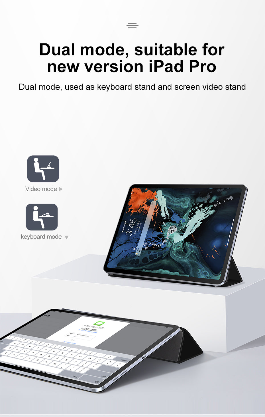 Flip Case For Apple iPad Pro 11'' 12.9'' 2019 Protective Cover Magnetic Adsorption PU Leather Case For iPad Pro 11'' 2019
