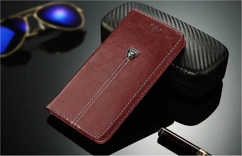Flip Leather Wallet Phone Case For iPhone 7 5 5s SE 6 6 Plus Luxury Cover For iPhone X XS Max XR 8 Plus Complete With Credit Card Slots