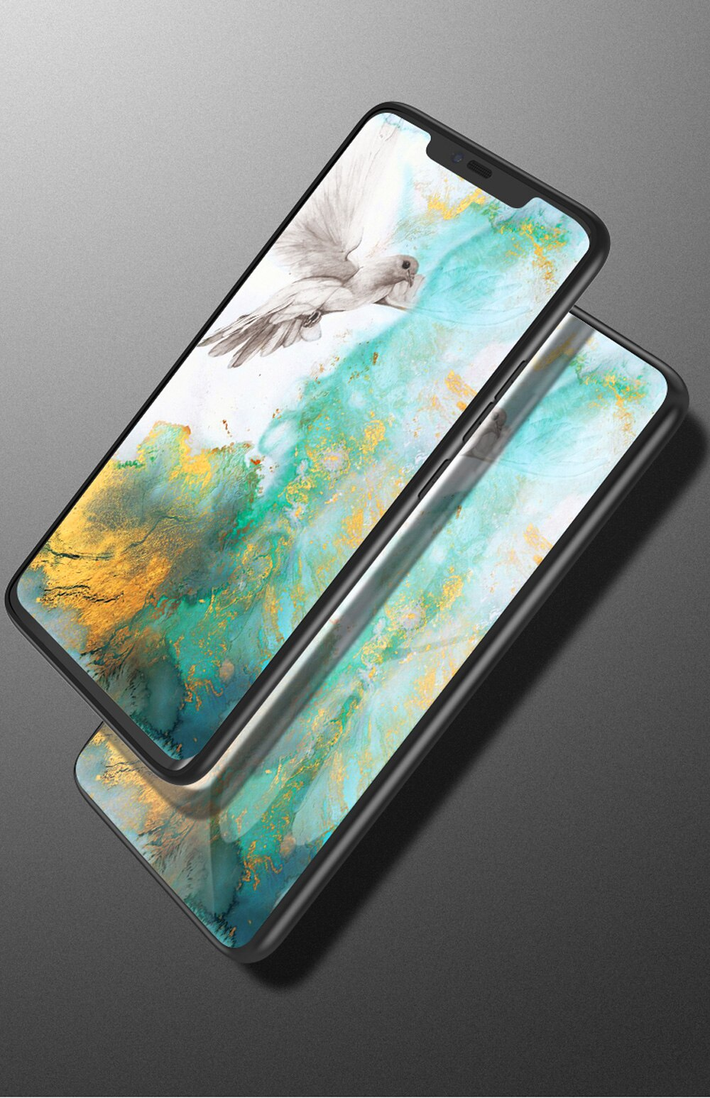 For iPhone Xs max Xr 7 8 6s Plus Phone Case Marble Smooth Tempered Glass Back Cover For Case Fundas