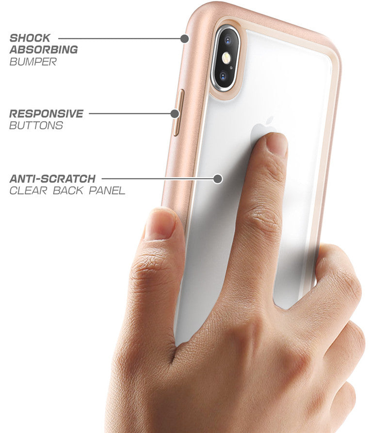 Premium Hybrid Protective Case For iPhone X XS Anti Shock TPU Bumper + PC Scratch Resistant Clear Back Cover Case For iPhone X Xs 5.8 inch