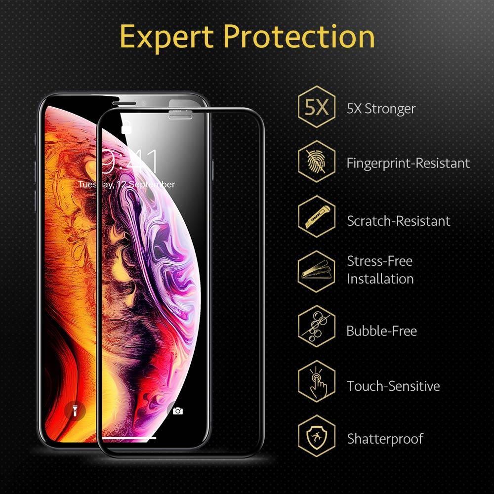 Full Cover Tempered Glass Curved Screen Protector for iPhone 11 Pro X XS XR XS Max 3D for iPhone SE 2020 Glass Film Cover With Extra Protection