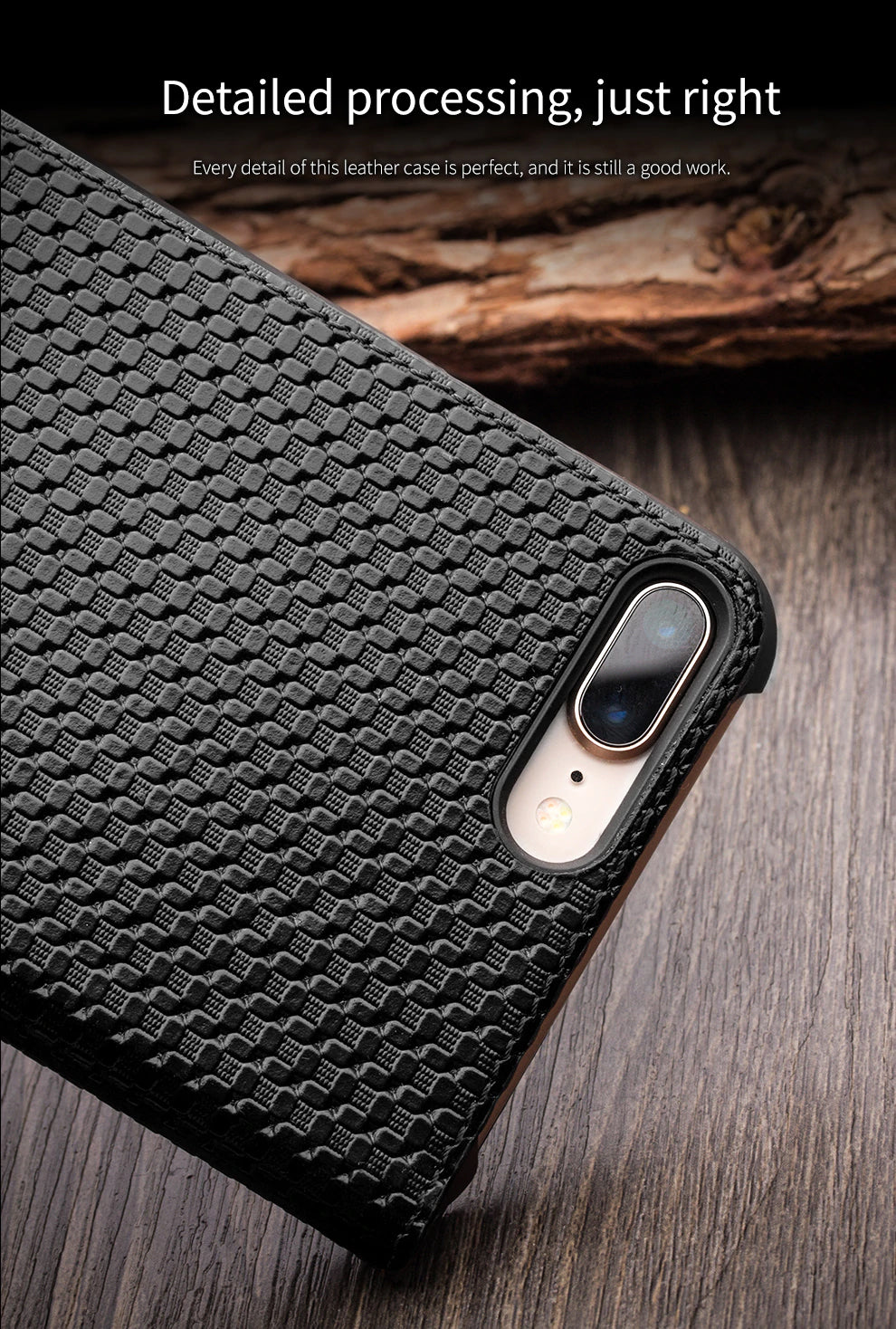 Genuine Leather Case Window View Flip Phone Cover for Apple for iPhone 7/8 4.7 inches Luxury Flip Case for iPhone 7/8 Plus