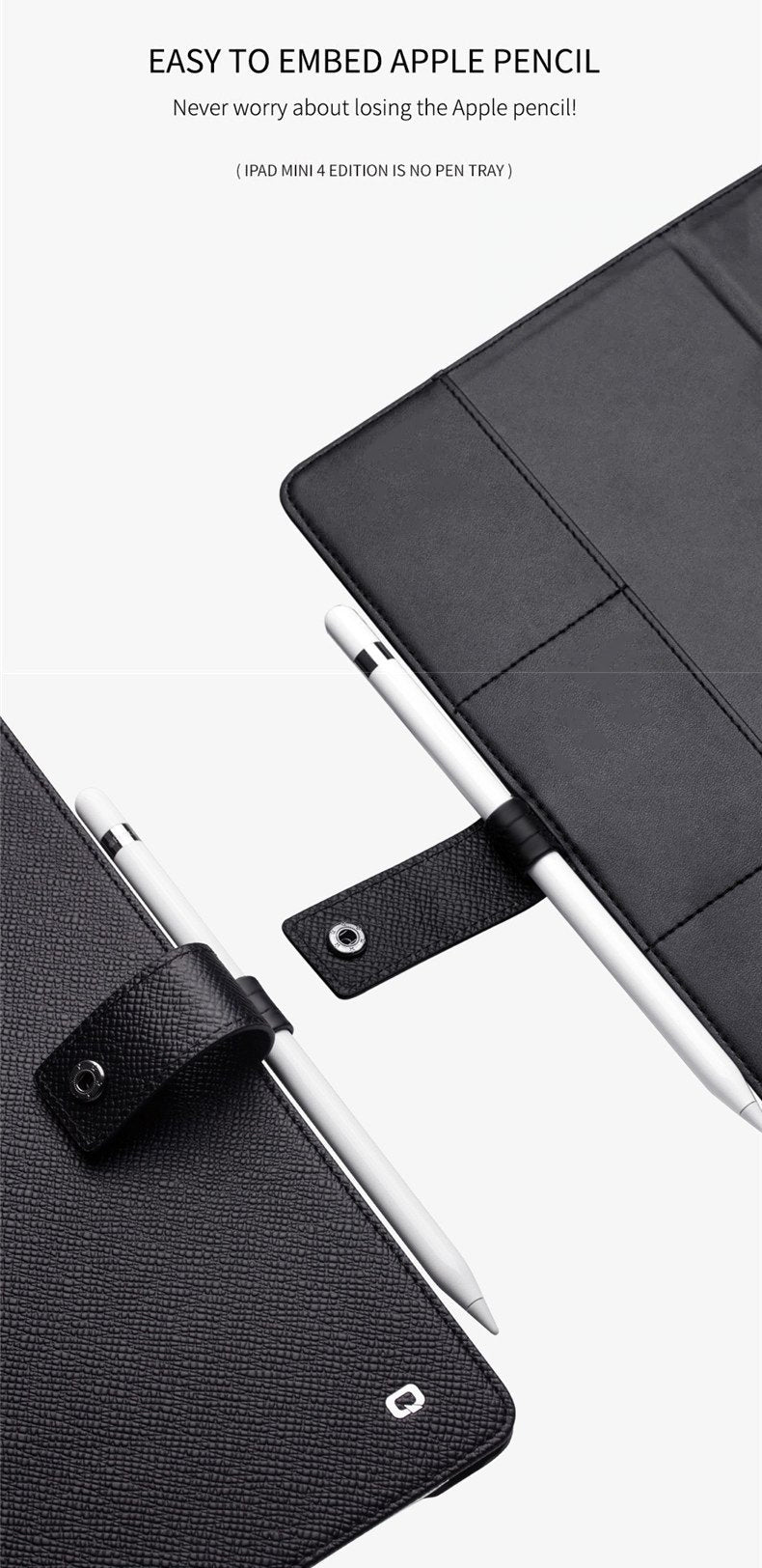Genuine Leather Ultra Thin Flip Cover Tablet Case for iPad Pro 9.7 2017 2018 Tablet Stand Business Card Slot Flip Wallet Cover for iPad 2019