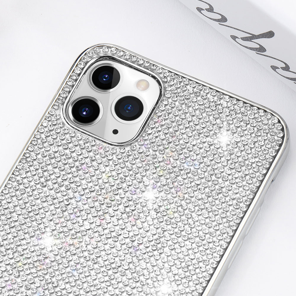 Glitter Bling Glamour Rhinestone iPhone Case for iPhone 11 12 Pro Max X Xr Xs Crystal Case for iPhone 8 7 Plus 6 6s SE2 2020 12 Mini