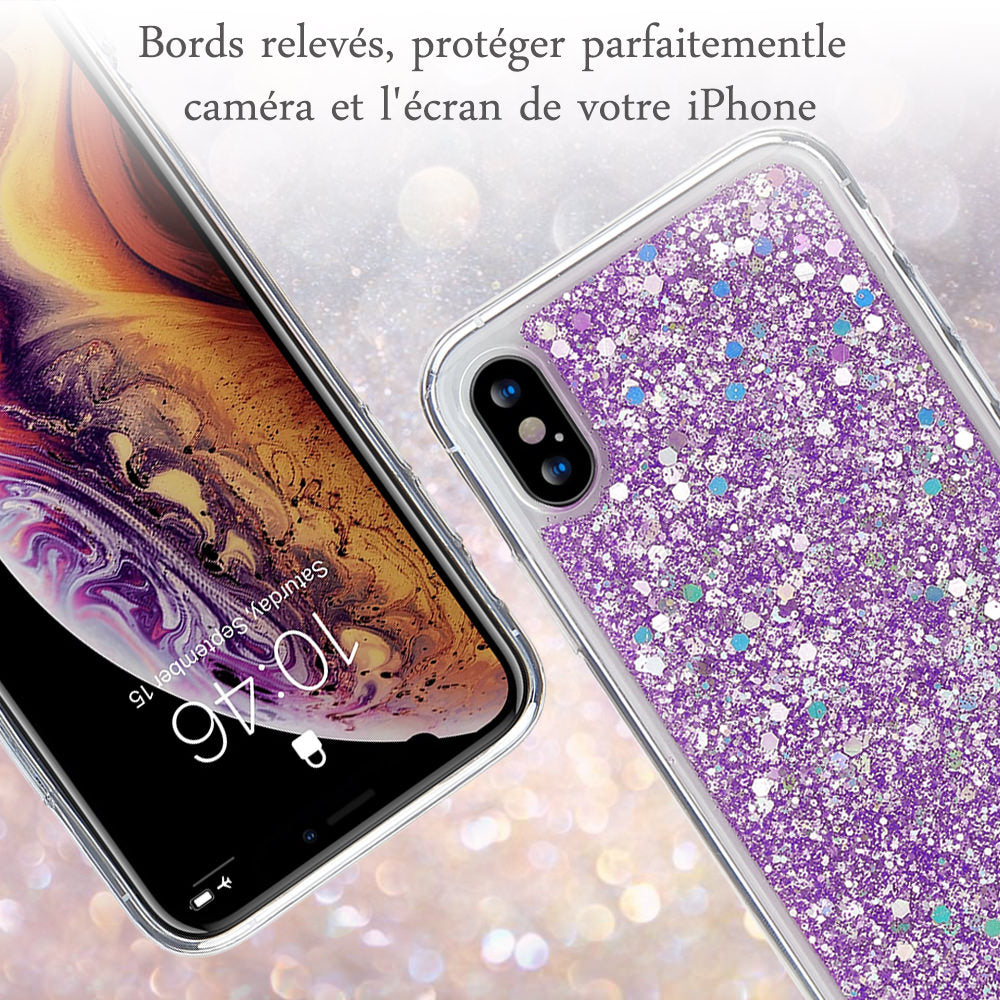 Glitter & Sequins Slim Shockproof Fitted Case for iPhone 11 Pro Xr Xs Max X 8 7 Plus 6 6s 5 5s SE 2020 iPhone 12 Soft TPU Silicone Case Cover For iPhone 2020