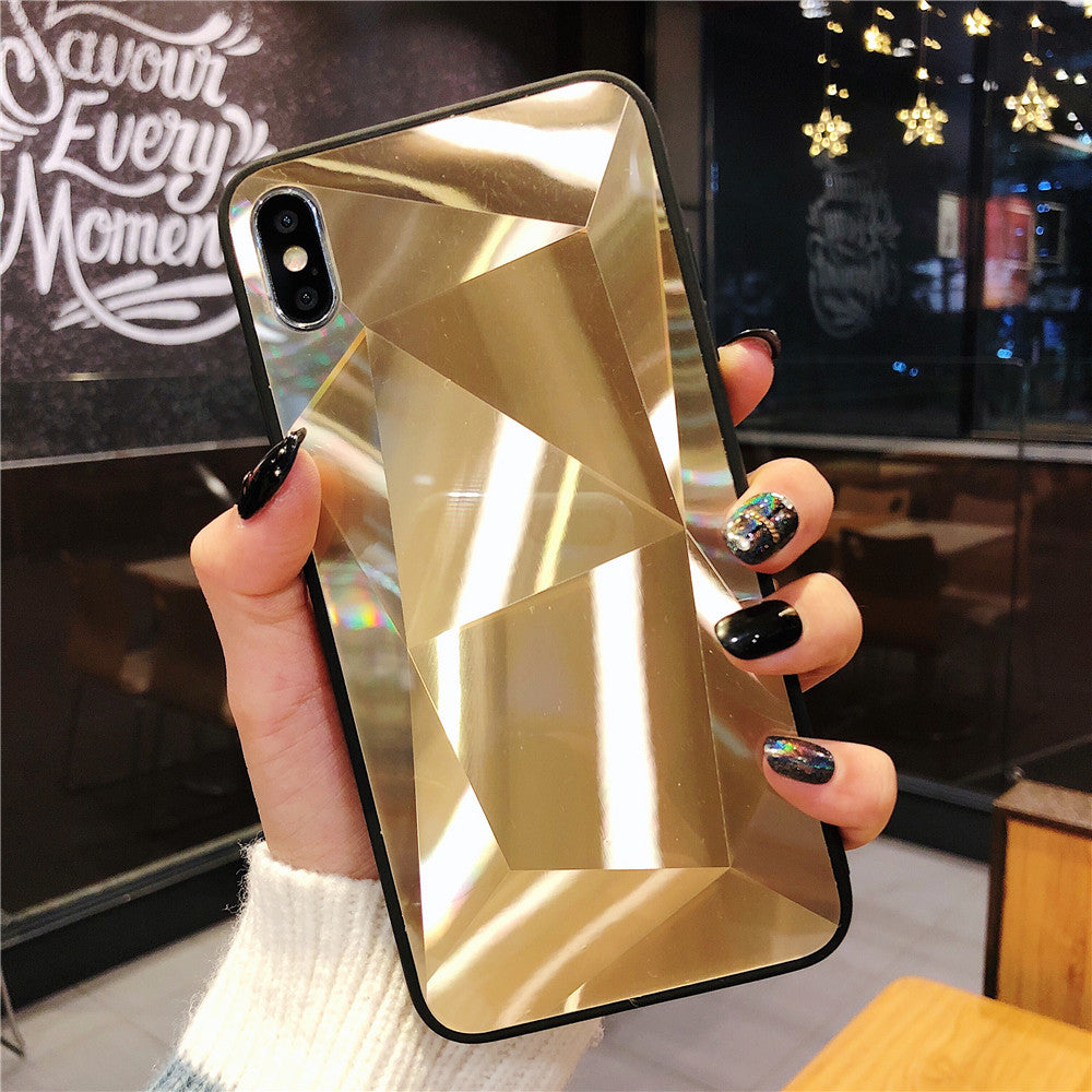 ff127f280da01 Glossy Diamond Crystal Laser Holographic Prism 3D Case For iPhone X Xs Max  XR 6 6s 7 8 Plus Soft Edge Flexible Protective Cover For iPhones