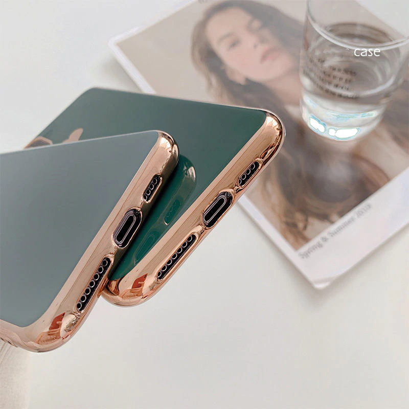 Glossy Shiny Love Heart Phone Case For iPhone 11 11Pro Max XR XS X XS Max 7 8 6 6S Plus Electroplated Shockproof Protective Back Cover For iPhone