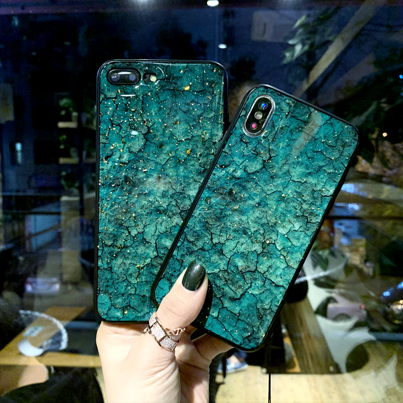 Gold Glitter Marble Patterned Case for iPhone X XS MAX 10 XR 7 8 Plus 6s 6 Fashionable Sexy Soft TPU Silicone Drop-Proof Anti Knock iPhone Case