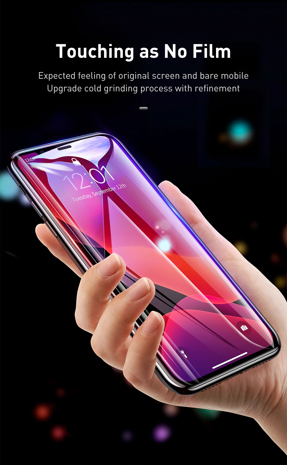 HD Transparent 0.3mm Tempered Glass Screen Protector For iPhone 11 Pro Full Coverage Protective Glass For iPhone 11 Pro Max