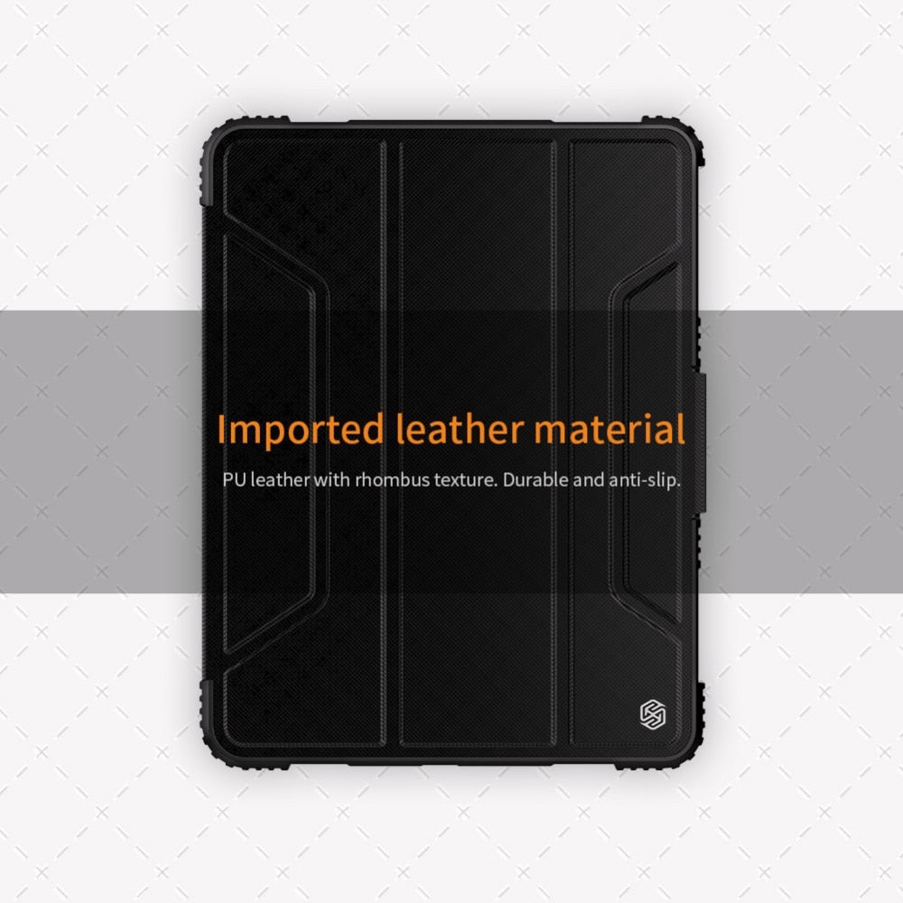 Heavy Duty Durable Protective Case For Apple iPad 10.2 Pro 12.9 11 2020 10.5 Pro 11 Air 2019 Mini 2019 4 9.7 2018 Shock Proof Bumper PU Leather Flip Case For iPad
