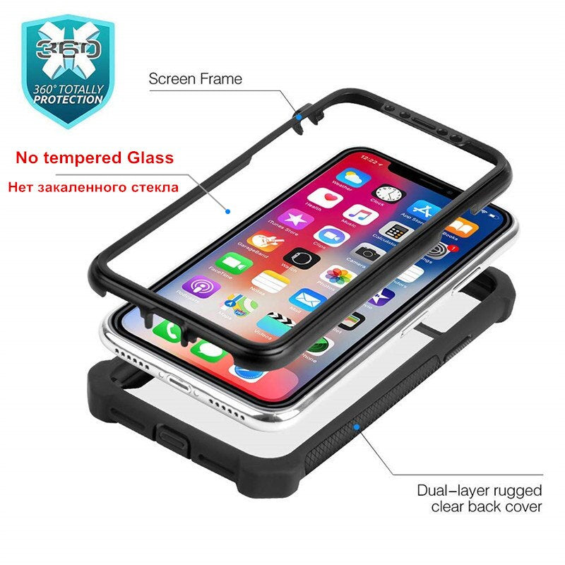 Heavy Duty Protection Rugged TPU Armor Phone Case for iPhone 13 12 11 Pro Max Anti-Drop Anti Scratch Deluxe Shockproof Case For iPhone
