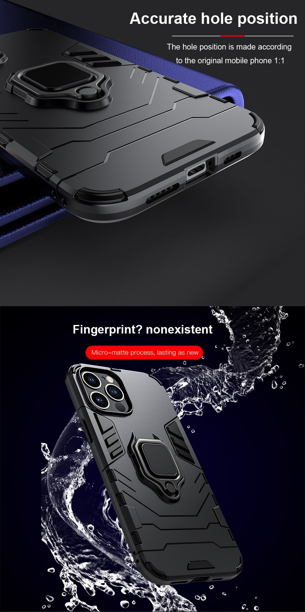 Heavy Duty Shockproof Armor Case for iPhone 12 Pro 12 Pro Max Silicon Fitted Case Metal Ring Stand Rugged Phone Back Cover for iPhone 12 mini iPhone 12 2020