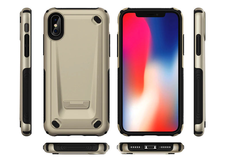 Heavy Duty Shockproof Hybrid Armor Phone Case For iPhone XS MAX XR X 8 7 6 6s Plus Luxury Cases Strong Tough TPU Bumper With Hard PC Cover