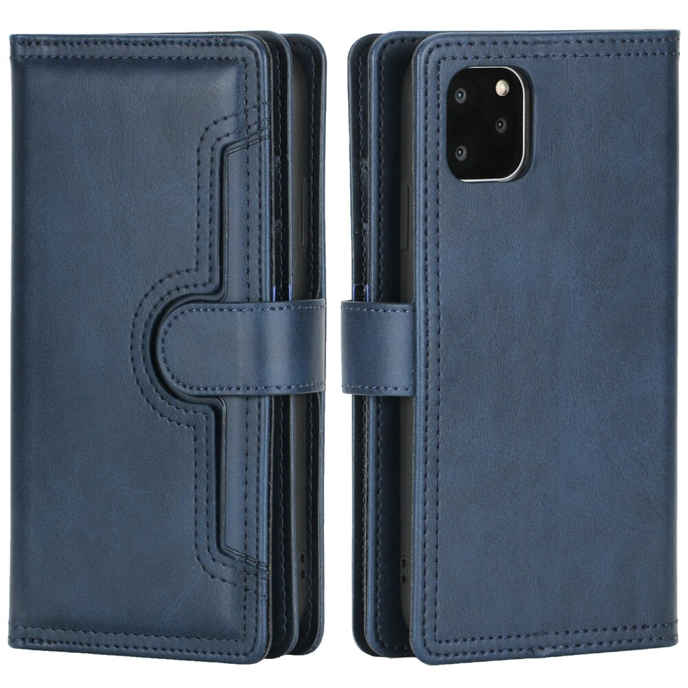 High Quality Soft Touch PU Leather Wall Card Holder Flip Case For 11 Pro XS Max XR X 7 8 6 6s Plus SE 2020 Magnetic Wallet Case For iPhone With Strap