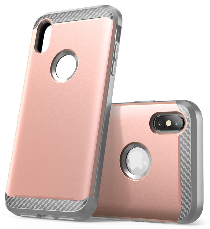Hybrid Armor Case For iPhone Xs Max 6.5 inch Drop Protect TPU Bumpers with Screen Protector and Dual Layer Full-Body Protective Armor Covering