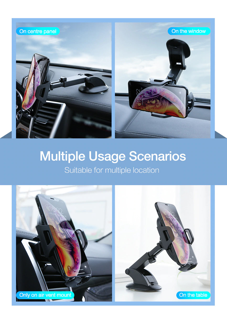 In-Car Phone Holder For iPhone X XS 360 Degree Rotation Universal Car Dashboard Windshield Mount For iPhone Samsung Phones