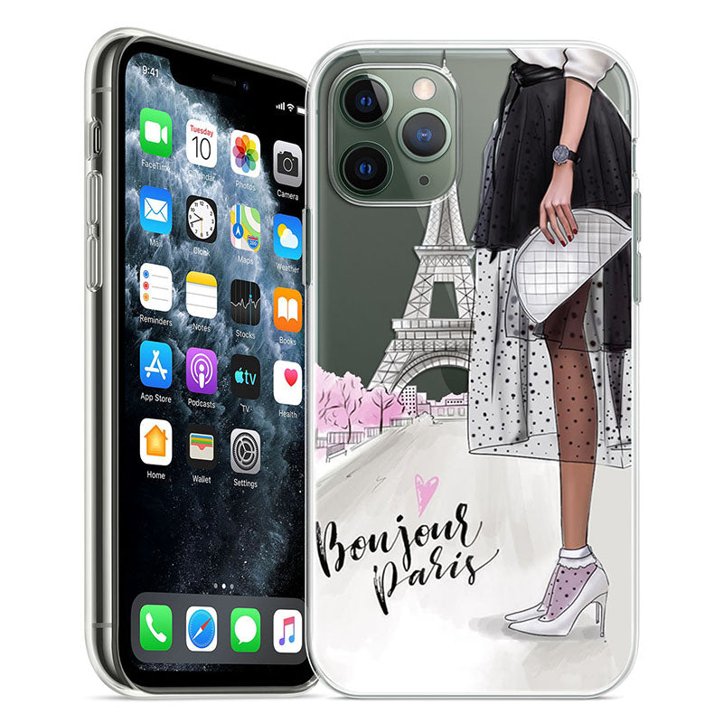 In Vogue iPhone Fashion Case For iPhone 11 Pro Case 5S 6 6S 7 8 Plus X XS Max Compact Lightweight Stylish Soft TPU Transparent Case for iPhone For Women