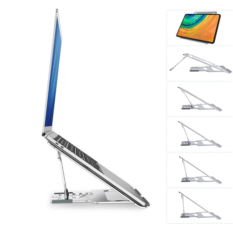Laptop Desktop Stand For MacBook Adjustable Multi-Angle Aluminum Alloy Laptop Stand For Better Posture At Desk Foldable Universal Laptop Stand