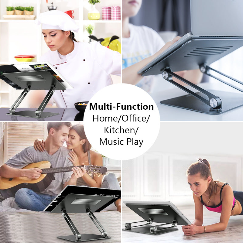 Laptop Desktop Stand For MacBook Pro Desk Stand Adjustable Multi-Angle Aluminum Laptop Stand For Better Posture At Desk Foldable Laptop Stand