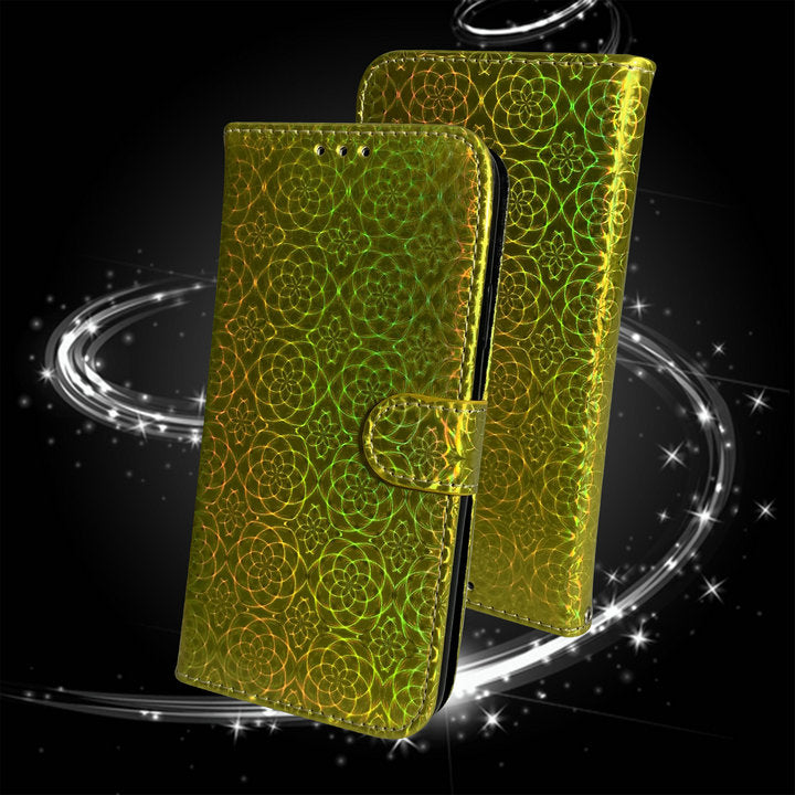 Laser Bling Shine Luxury Flip Wallet Case For New iPhone 12 Pro Max Shockproof Case For iPhone 12 Bling Sparkle Card Holder Case For New iPhone 12 2020