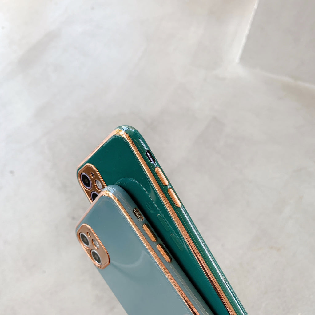 Latest Colors Luxury Gold Plated Case for iPhone 12 Pro SE 2020 Phone Cover iPhone 11 Pro Max 8 Plus 7 XR XS X Soft Silicon Glossy Case For iPhone 11 12 Pro Max