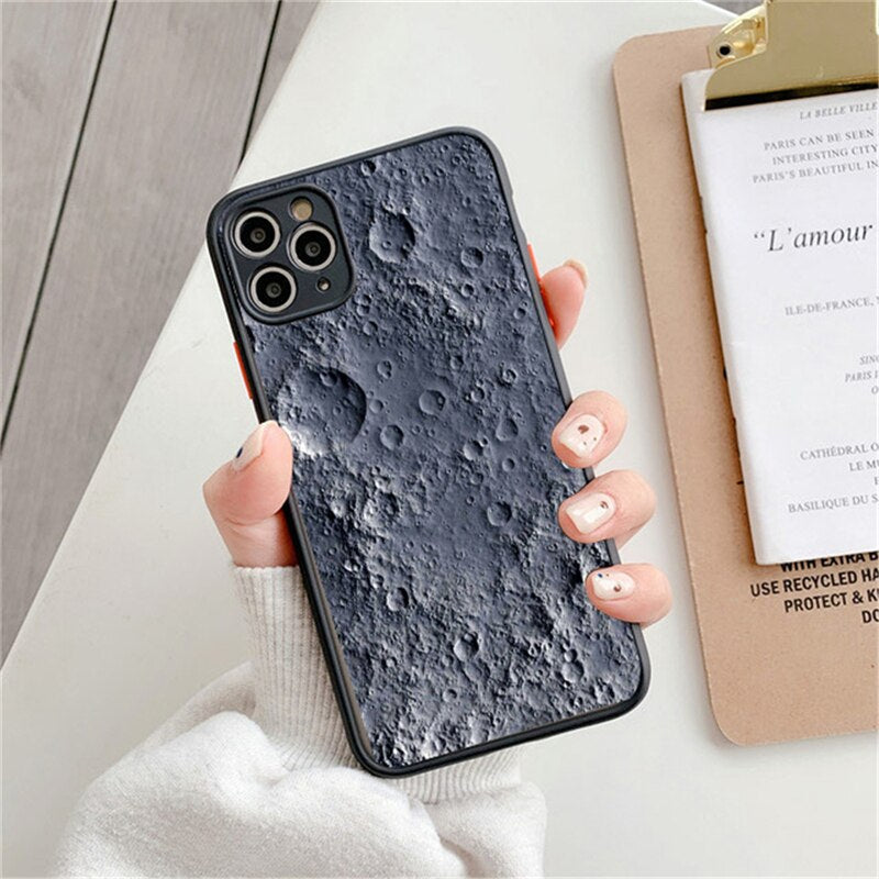 Liquid Marble Pattern Fashion Phone Case For iPhone 13 12 11 Pro Max Moon Case For 7 8 Plus XS Max XR X 12 Mini SE2020 Shockproof iPhone Cover