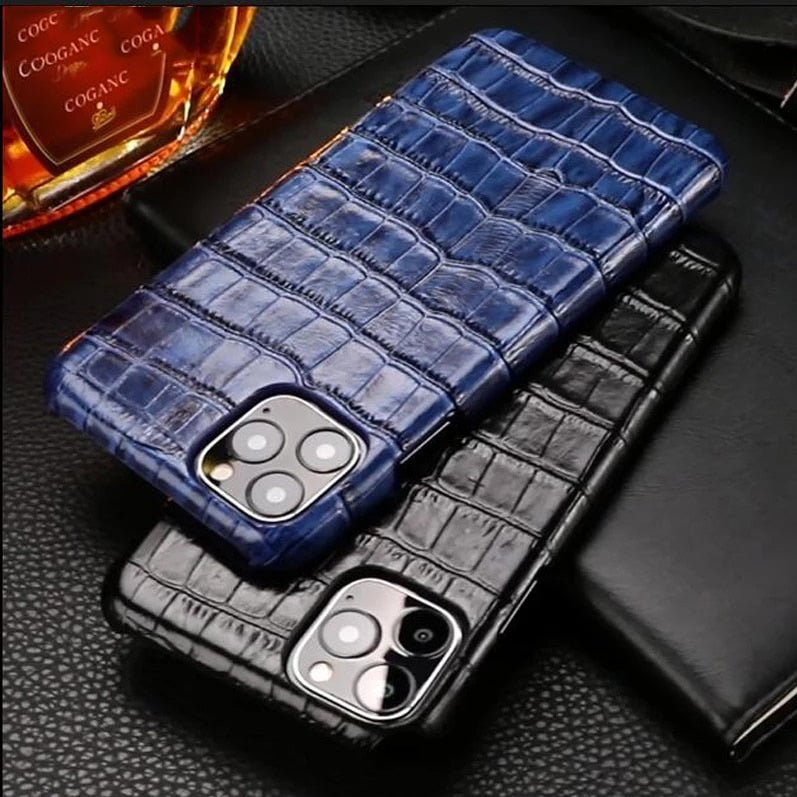 Luxury Snakeskin Case For iPhone 11 12 Pro MAX Mini 12 Mini SE 2020 7 8 Plus 12 Pro 11Pro X XR XS Max Case Real Cow Hide Leather Back Cover Case For iPhone