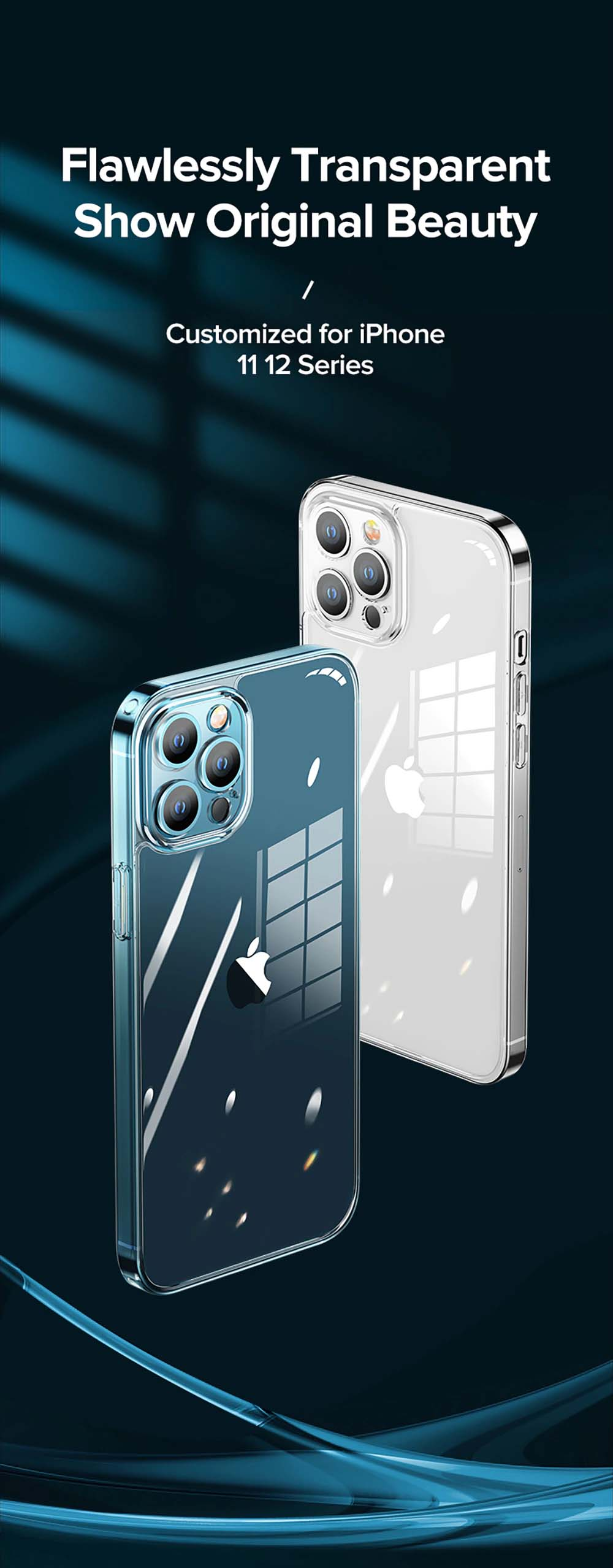Luxury Anti-Scratch Clear Case For iPhone 13 12 Pro Max Full Lens Protection Non-Slip Anti-Yellow Transparent Cover For iPhone 11 12
