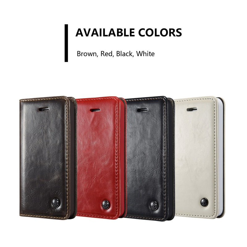 Luxury Business Case For iPhone SE 2020 11 Pro Max Wallet Case for iPhone 5S 5 SE Magnetic Flip Case For iPhone 6 S 7 8 Plus X XS Max XR Card Holder Case