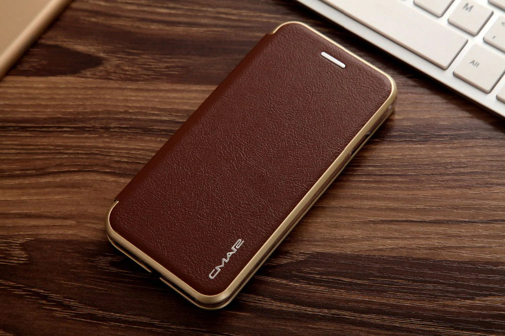 Luxury Card Holder Flip Case For iPhone 6 S 7 8 iPhone X XS Max XR Credit Card Slot Leather Wallet Flip Cover Case For iPhone 6s 7 8 Plus