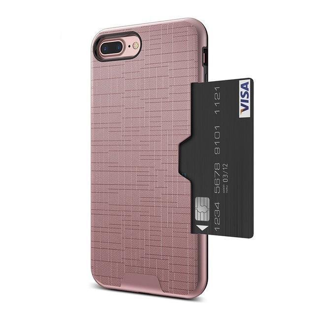 Luxury Card Holder Wallet Phone Case For iPhone 7 8 6 6s 7 Plus Cases For iPhone X XS MAX XR Case For iPhone - 6 Colors