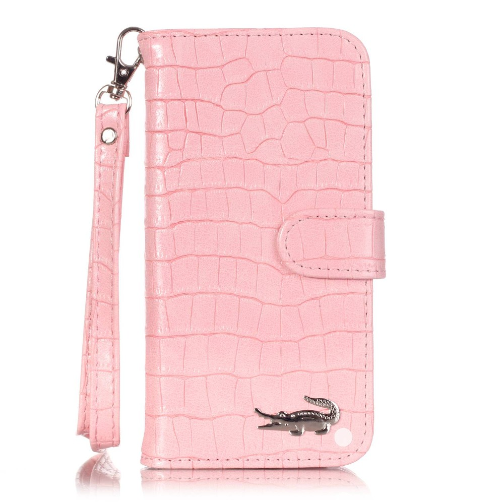 Luxury Crocodile Skin iPhone Case Alligator Flip Wallet Card Pocket Leather Case For Apple iPhone 5 5s 6 6s 6 Plus 7 7plus 7 8 Plus Cover