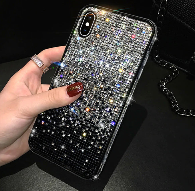Luxury Crystal Bling Diamond Rhinestone Shimmer Phone Case For iPhone 11 Pro Max X Xr Xs Max Case Gradient Fully-Jewelled Case