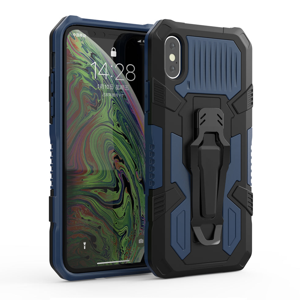 Luxury Hybrid Armor Case With Belt Clip For iPhone 12 11 Pro Max XR XS X R 7 8 Plus 8Plus 7Plus iPhone 12 12 Pro Fitted Rugged Shockproof Case With Kickstand