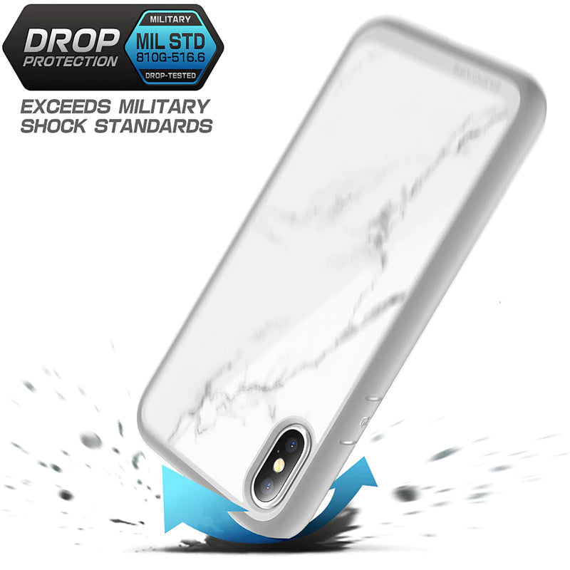 Luxury Hybrid Shockproof White Marble Designer Phone Case For iPhone XS Max 6.5 inch Premium Protective TPU Bumper Back Cover For iPhone XS Max