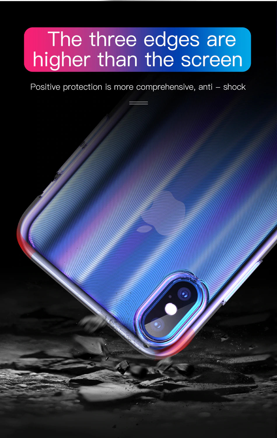Luxury Laser Colorful Aurora Gradient Case For iPhone Xs XR Xs Max Hard PC Plastic Protective Transparent Case For iPhone Xs Back Phone Cover
