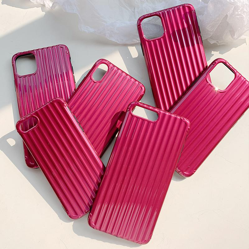 Communicate In Style With These Stunning Luxury Luggage Suitcase Fashion Phone Cases for iPhone 11 Xr 6 6s 7 8 Plus Xs Max X 11 Pro Max Case Plain Pink or Silver Soft TPU IMD Silicon Phone.