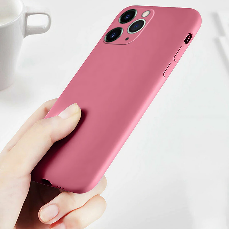 Luxury Original Liquid Silicone Full Protect Lightweight Case For iPhone 11 12 13 Pro SE 2 Case For iPhone X XR XS Max 7 8 6 6s 13 Pro Soft Cover Case
