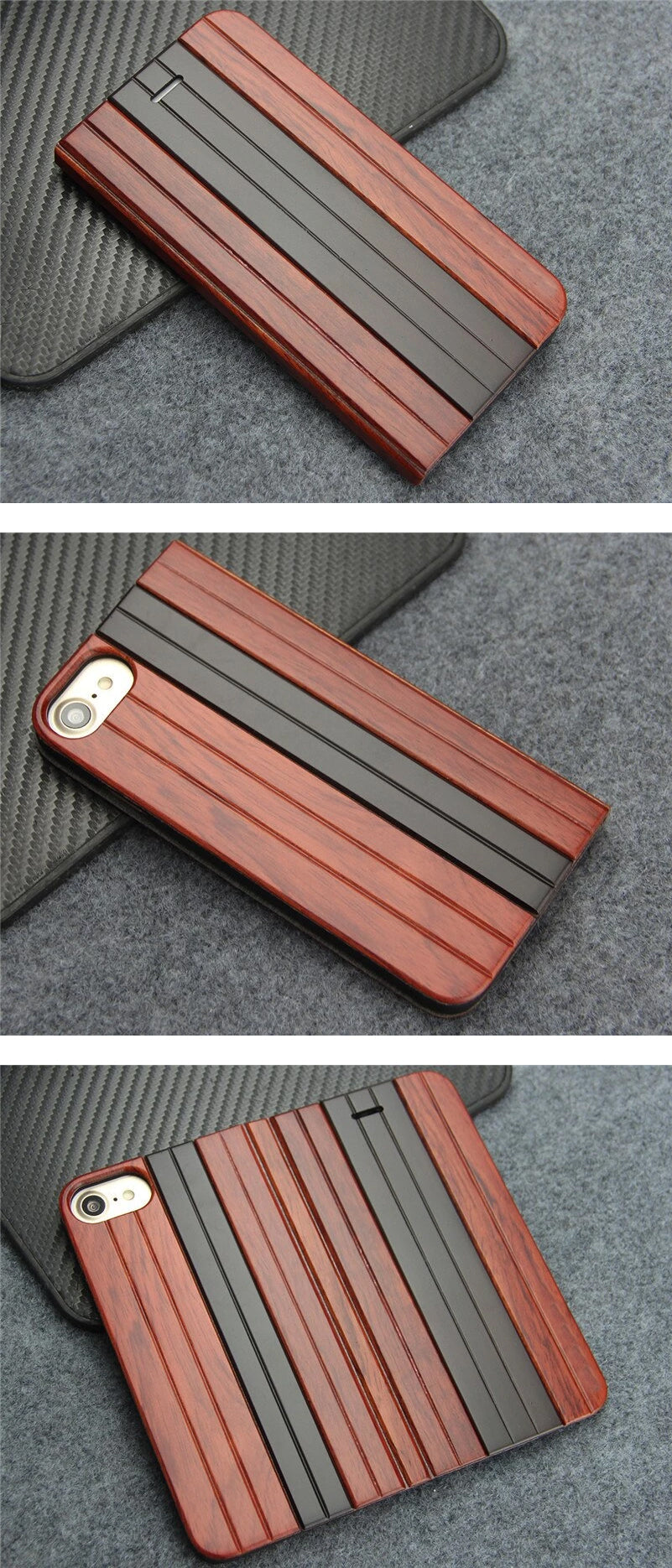 """Luxury Retro Flip Wood Case For iPhone 6 6S Plus Cover Patterned Leather Wood Phone Cases For iPhone 6S Plus 5.5"""" For Apple iPhone"""