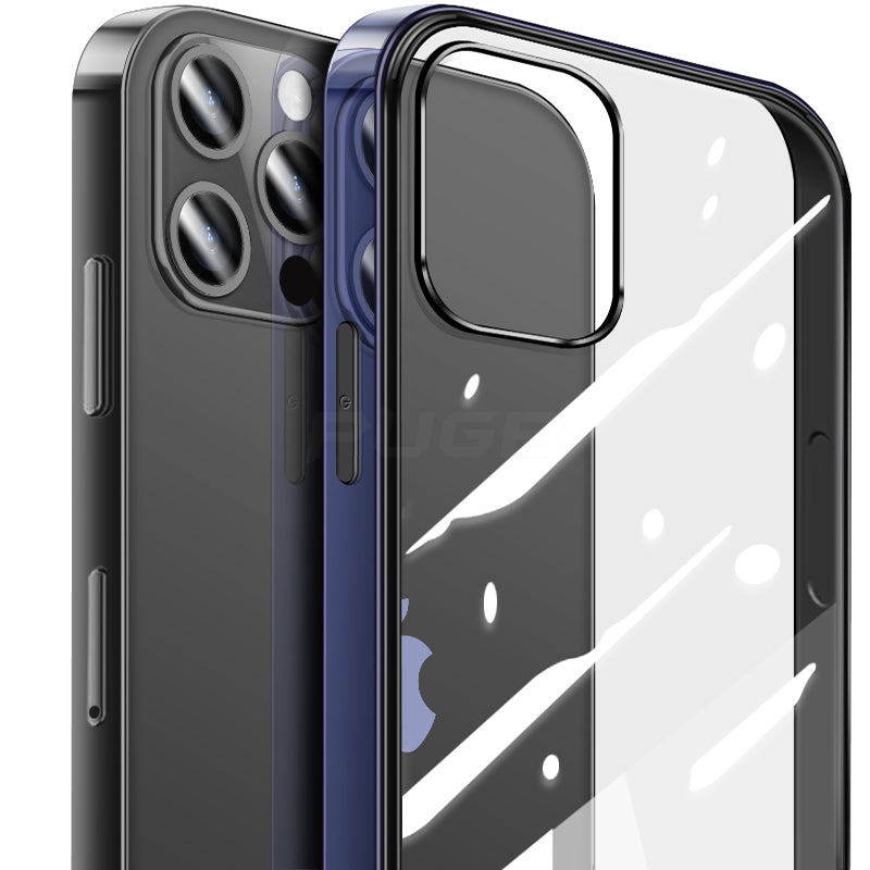 Luxury Shockproof Square Edge Frame Case For iPhone 12 Pro Max Clear Cover With Lens Screen Protection Fitted Cases For iPhone 12 Pro Mini Back Cover
