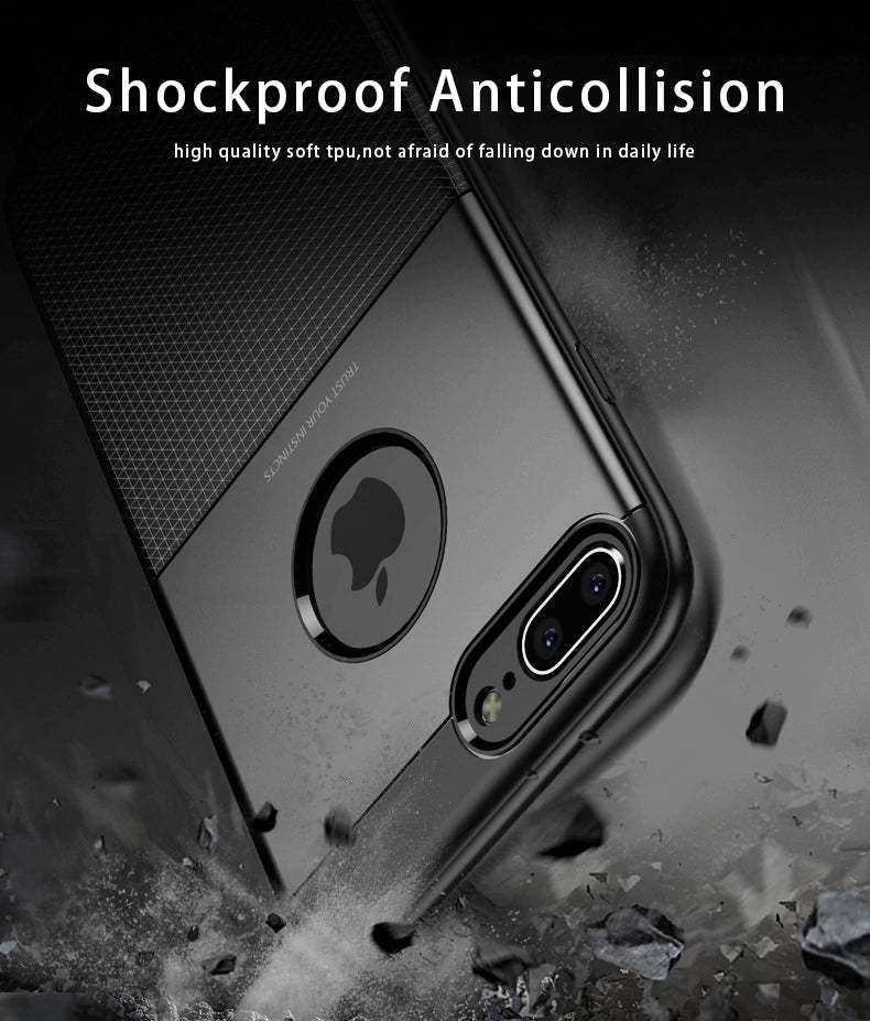 Luxury Shockproof Tactile Matte Case For iPhone X XS Max XR Anti Knock Fitted Protective Case Soft TPU Cover For iPhone 8 7 6 6S Plus