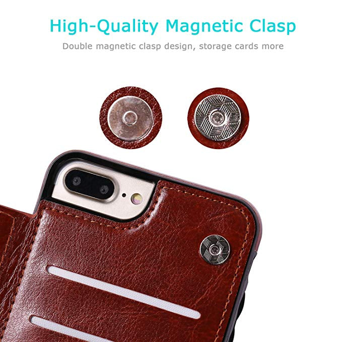 Luxury Slim Fit Wallet Card Holder Case For iPhone 13 11 12 Mini Pro XR XS Max X 6 7 8 Plus Premium Leather Shockproof Flip Cover For iPhone