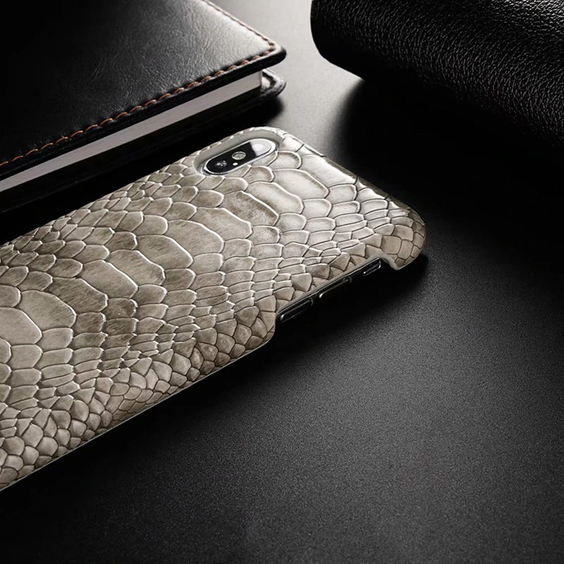 Luxury Snake Skin Leather Phone Case for iPhone XS Max X XR 8 7 6 6s Plus Shockproof Back Cover for iPhone X 7 Case PU Leather