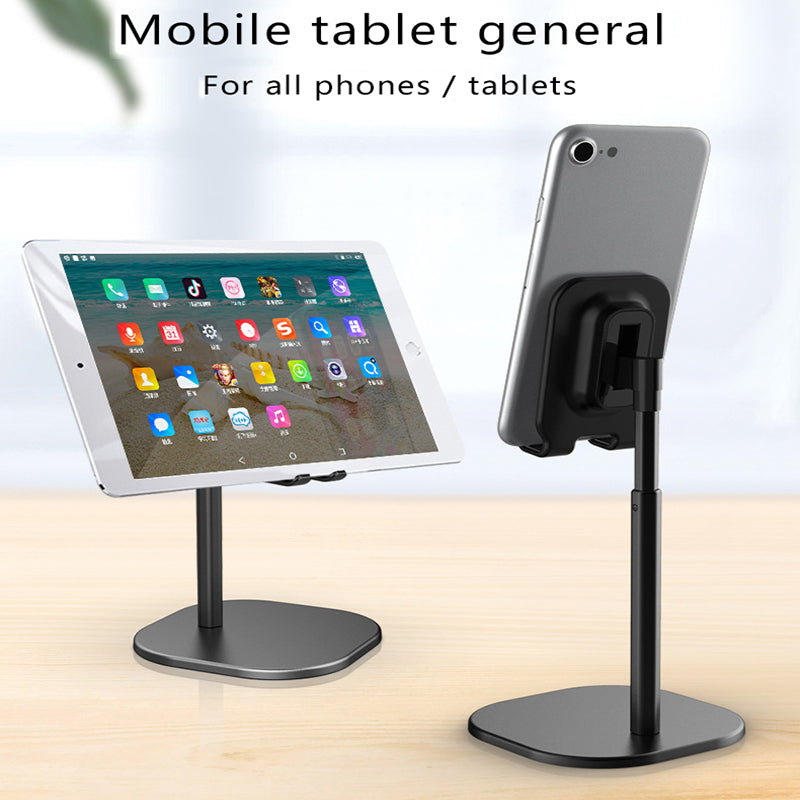 Luxury Telescopic Desktop Stand Holder For iPhone Mobile Phone Metal Support Smart Phone Tablet Stand Constructed From Aluminium Alloy With Universal Fitting