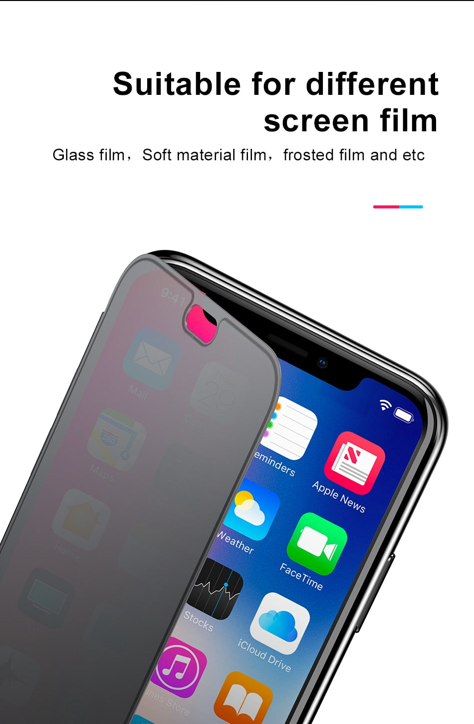 Luxury Touch Screen Flip Case For iPhone XS Max XR X S R XS Max With Tempered Glass Full Protective Back Cover For iPhone XS Max Fundas
