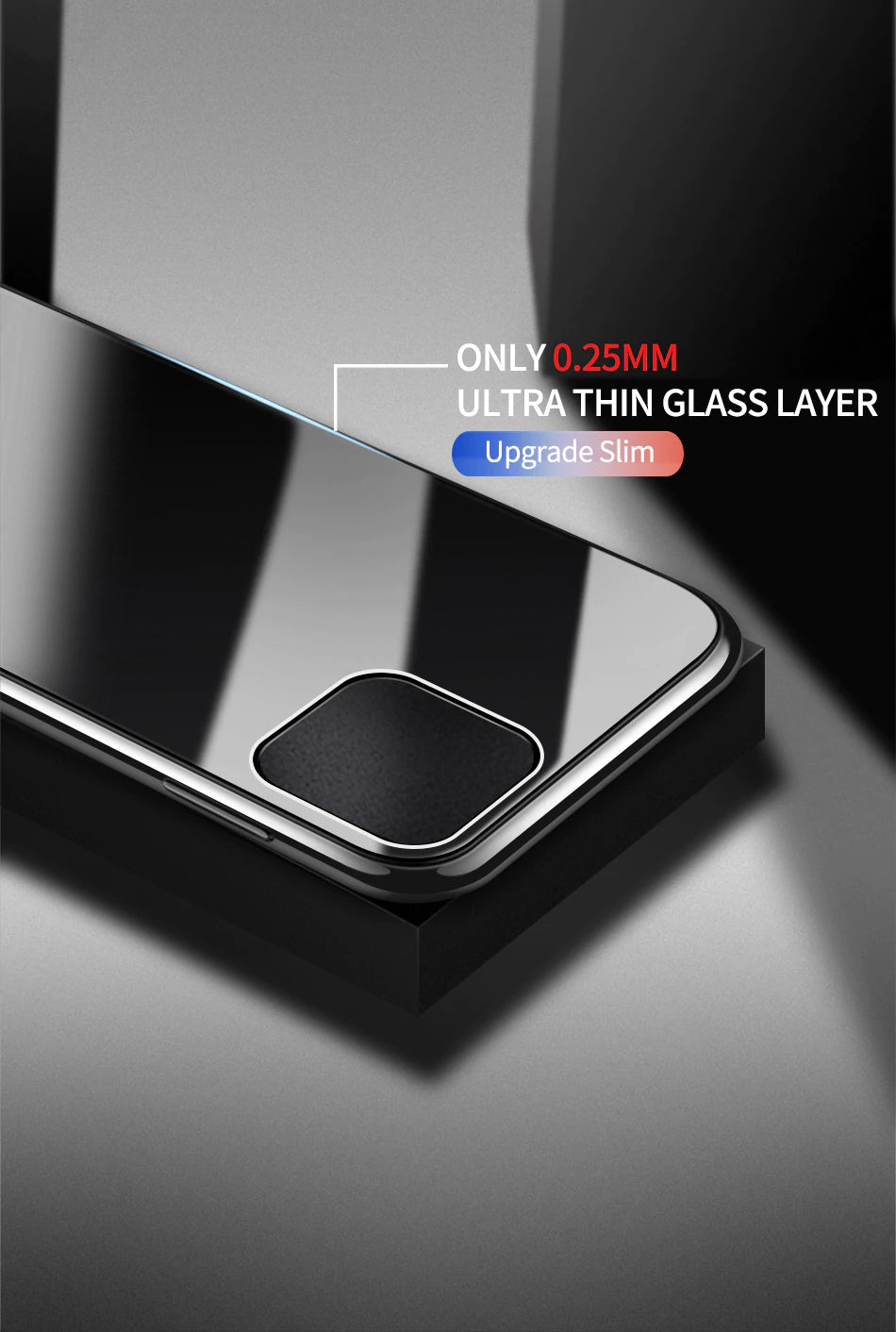 Luxury Ultra Thin Protective Glass Case For iPhone 11 Pro Max Cases Transparent Soft Edge Glass Cover For iPhone XS MAX XR X 10 7 8